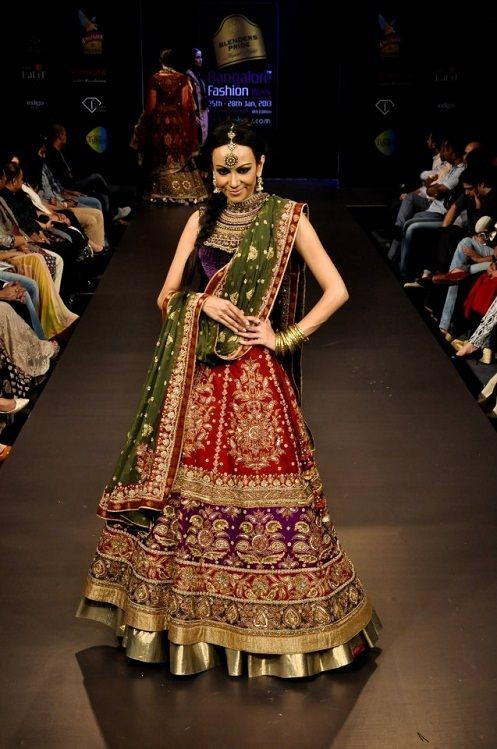 Indian Brides Looks Eye Popping Multicolor Designer Bridal