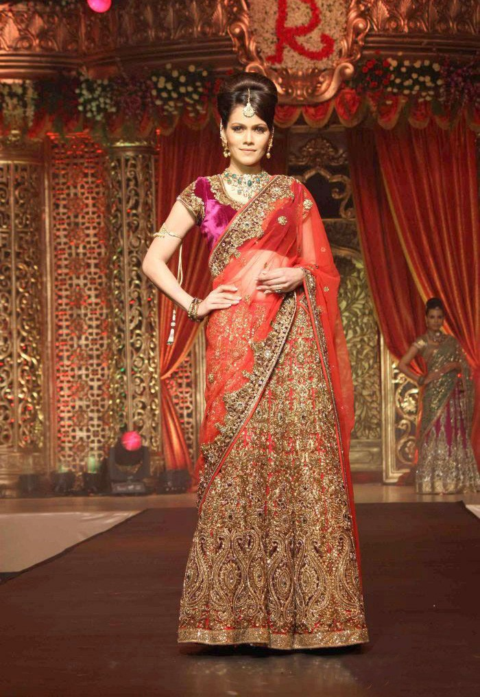 64b4a54fd8 awesome heavy embroidered magenta and red designer bridal lehenga