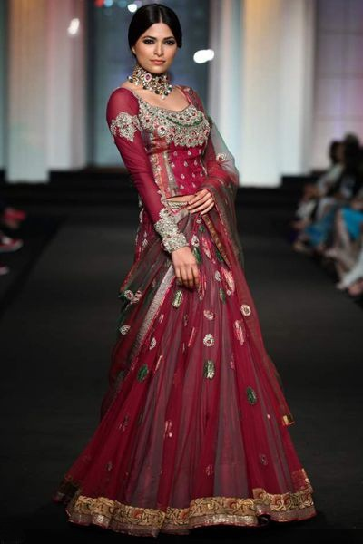 ad84979ba2 Eye popping Maroon designer lehenga with silver embroidery