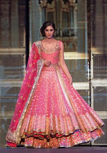 Alluring Hot Pink designer Lehenga on net fabric having Fully embroidery on whole attire