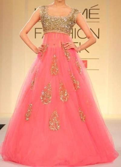 Captivating blush pink with animated designer lehenga choli 1