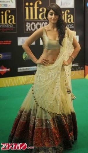 golden with pink embroidery Designer lehenga