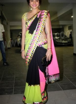 Anushka Sharma Rainbow Saree