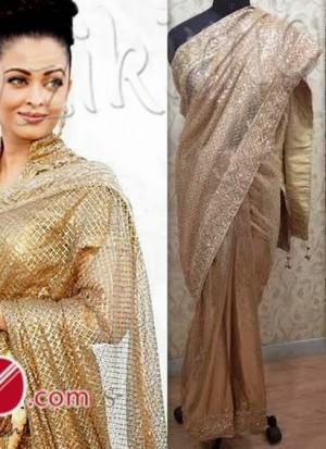 Aishwaria rai gold saree