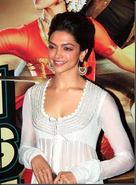 Deepika Padukone in designer White suit