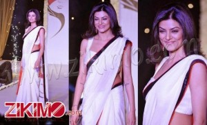 Shusmita sen  Awesome white saree