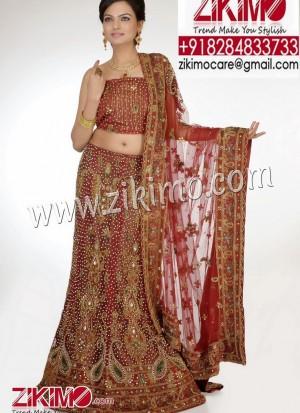 Show Stopper Maroon Wedding Net Fabric Lehenga with beads, cutdana, stones and zari work