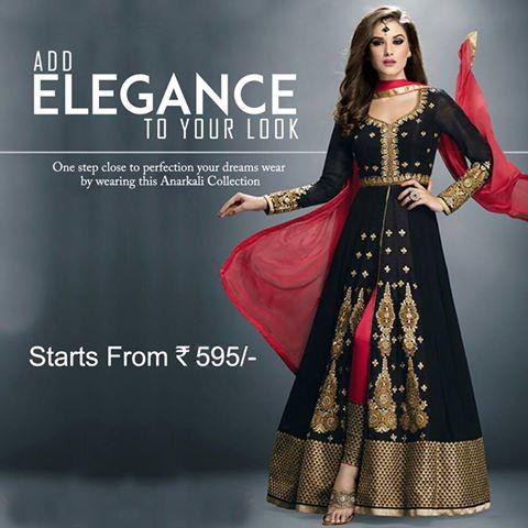 Anarkali Suit Starting Range from Rs.595/-
