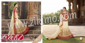 Zikimo Shanaya 701 Off White Georgette and Net Wedding/Party Wear A Line Lehenga Choli