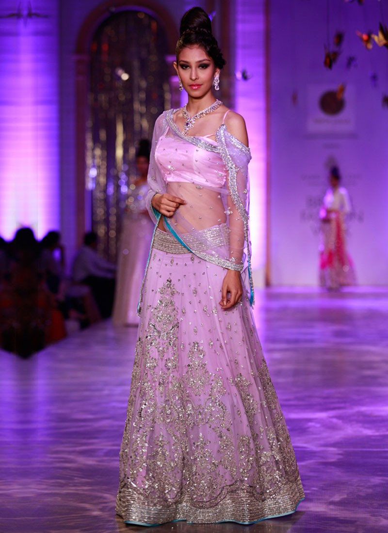d30daae545 Stylish Lavender Silk Mehendi Sangeet Wedding Lehenga with hand Embroidery  at ZIkimo