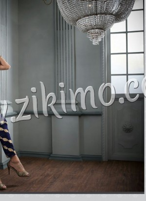 Designer Embroidered 2603 Maskeen Royal Blue Velvet Pants Suit at Zikimo