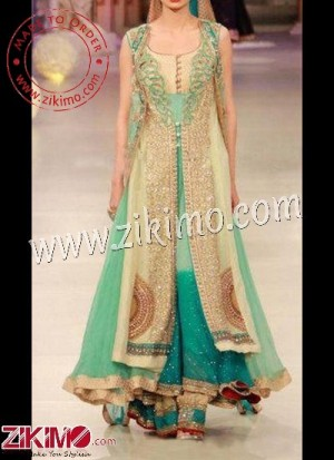 Zikimo For An Impressive Wardrobe, Get This Attractive Green Indian Wedding/Annivesary lehenga Choli