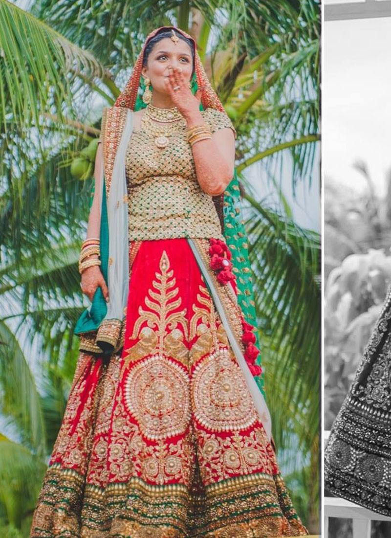 dfa3503612 Red And Green Indian Wedding Dresses – DACC