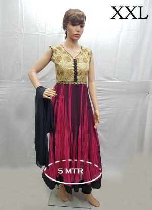 Maroon Georgette Diamond Designer Readymade Anarkali Salwar Suit at Zikimo
