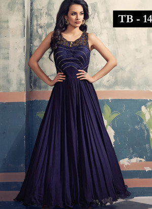 52515c065f NavyBlue Georgette Embroidered Floor length Anarkali Suits at Zikimo ...
