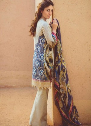 Pearl10 Printed Cambric with Work Pakistani Indian Suit at Zikimo
