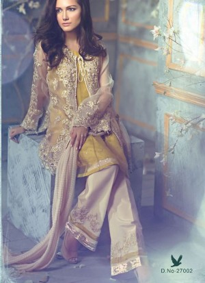 Brass27002 Poly Georgette Pakistani Indian Embroidred Straight Suit At Zikimo