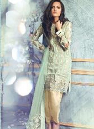 MagicMint27007 Poly Georgette Pakistani Indian Embroidred Straight Suit At Zikimo