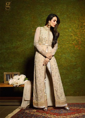 Biegetan6204 Malaika Arora Khan Georgette Embroidery Work PartyWear Suit at Zikimo