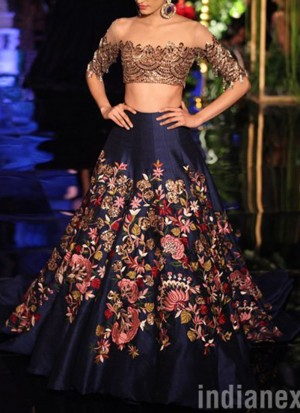 BlueGold33 SIlk Net PartyWear Lehenga Choli at Zikimo