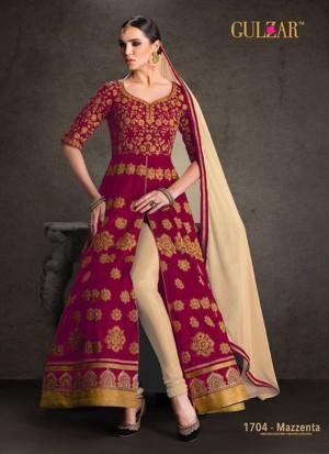 d52be2c294 Magenta1704 Banglorisilk Indian FestiveWear Anarkali Suit at Zikimo ...